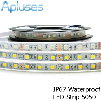 IP67 Waterproof 5050 LED Strip DC12V 60 LED/M Silicon Tube Waterproof LED Strip RGB/White/Warm White